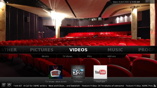 XBMC 11.0 Eden for AppleTV -- http://www.appletvhacks.net/2012/03/29/xbmc-11-0-eden-for-apple-tv-review/