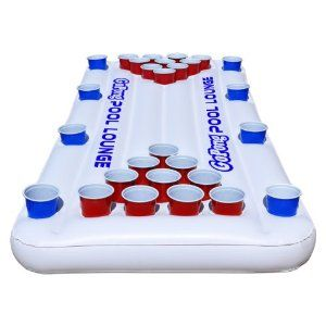 For the pool - Amazon.com : GoPong Pool Lounge Beer Pong Inflatable