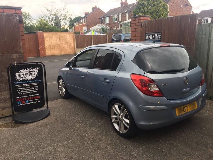 2007 Vauxhall Corsa in this afternoon for 18% Carbon tints to the rear.
