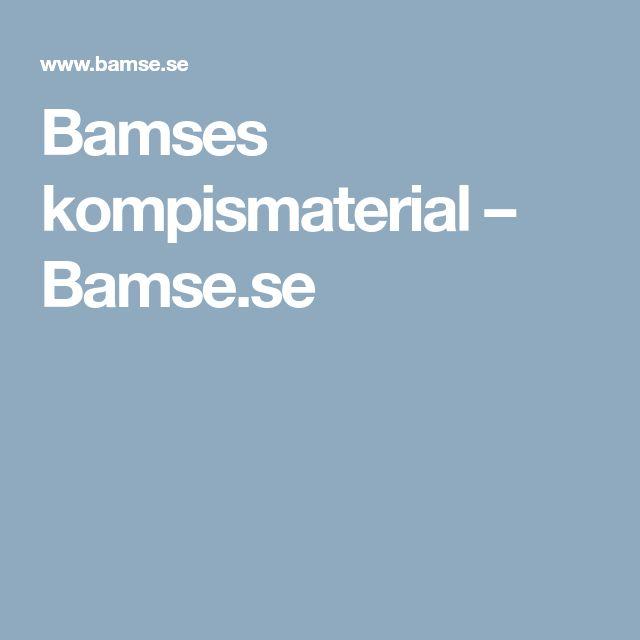 Bamses kompismaterial – Bamse.se