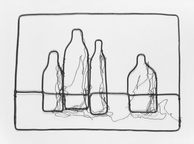 Still life with 4 bottles --- #naturemorte #stilllife #still_life #stilllifeart #painting #abstract #geometry #primitivism #wire #art #naiveart #artwork #originalworks #wireart #wirework #handmade #hand-made #handmadeart #homedecor #design #handmadedecor #artdecor #creative #original #strange #metalart #instahome #instaart #instapainting