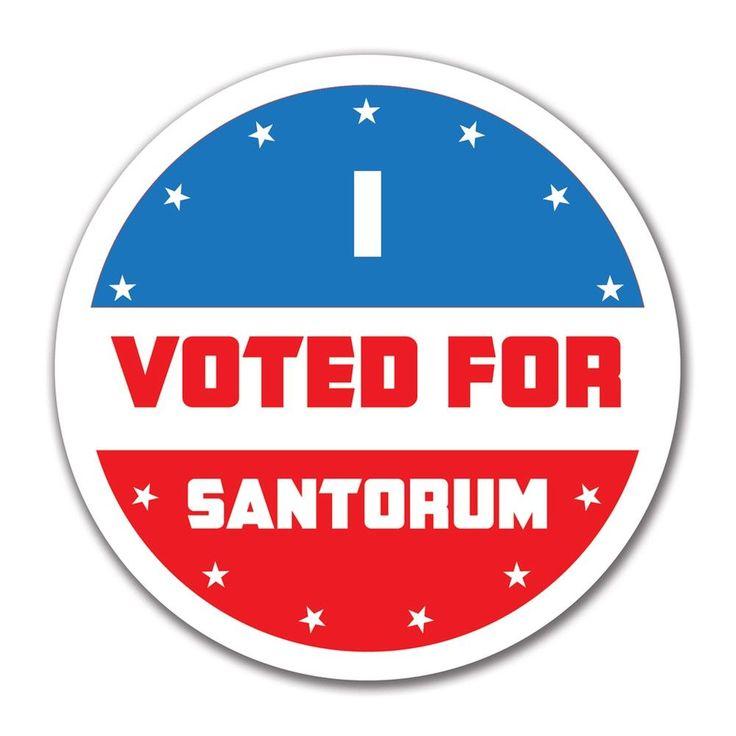 Election 2016 I Voted For Santorum 4x4 Round Sticker