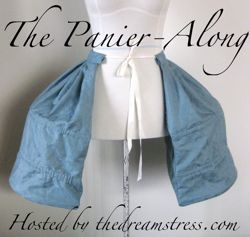 The Panier-Along - Step-by-step instructions to draft and sew a pair of 1760s-1780s paniers, suitable for wearing with upper-class informal dress.