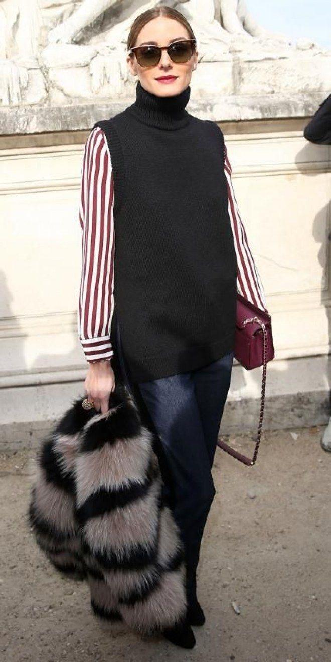 #Outfit de #otoño ¿Cómo llevar un cuello alto sin mangas? #jersey #streetstyle #fashion #inspiration