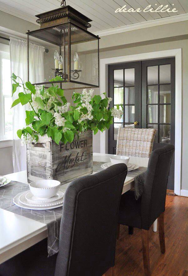 Wall color Revere Pewter.. doors Wrought Iron.. ceiling & trim Simply White all by Benjamin Moore