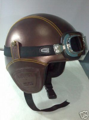 http://www.revelinnewyork.com/sites/default/files/RETRO_Scooter_Motorad_Vespa_Helm_Brown_Leder_Hard_helmet.jpg. I would KILL for a helmet that even looked vintage like this!