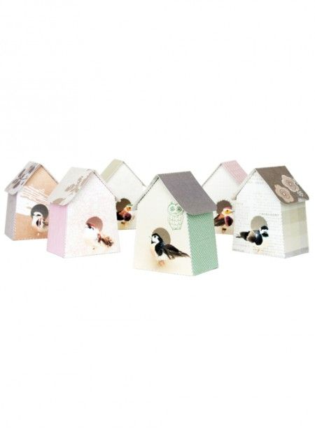 Great for gift  paper birdhouses kit by studio ditte - found at The Collection in Paris