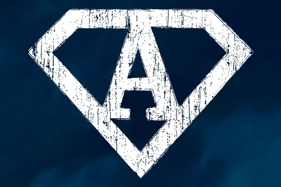 Grunge #Superman #Letters by stockimagefolio on Creative Market