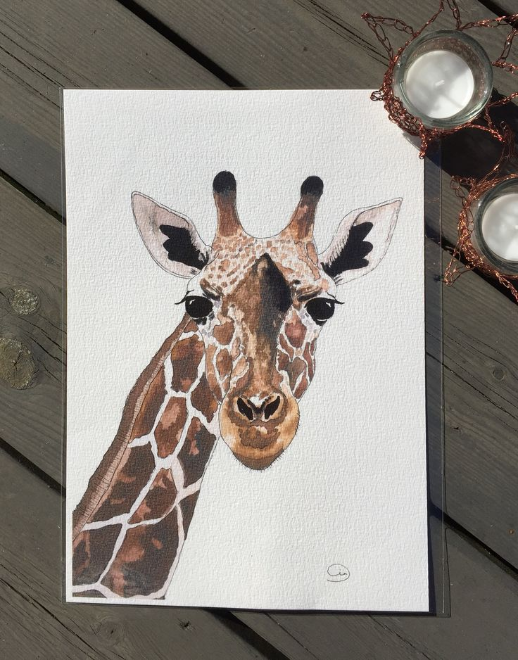 Giraffe. Mixed media. By Cia Keramik och Design