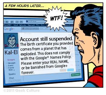 Superman vs Google+