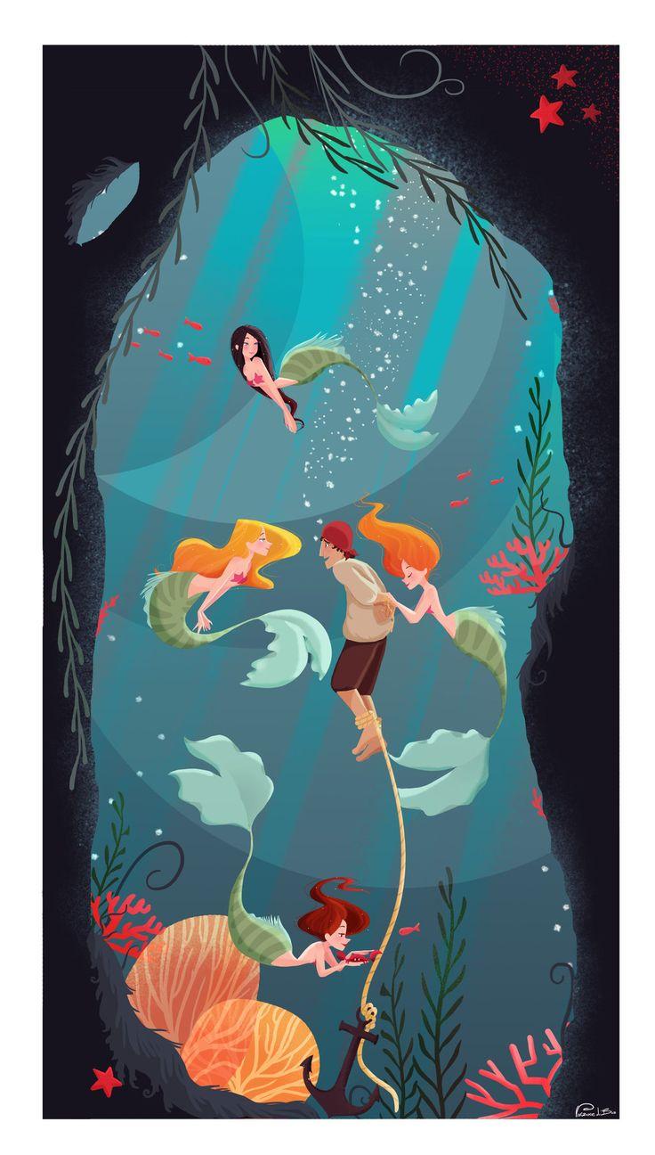 Saved! by Vijolea.deviantart.com on @deviantART (Mermaid lovers need more art like this)