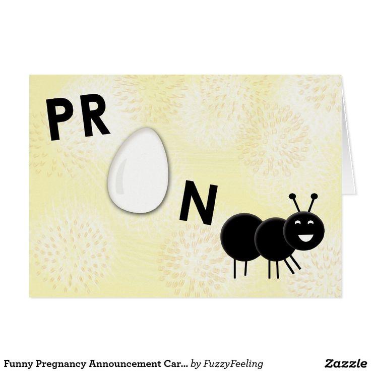 Funny Pregnancy Announcement Card - Pregnant