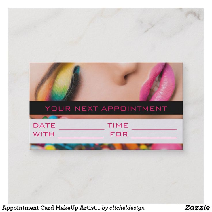 Appointment Card MakeUp Artist Cosmetology Salon AD-Appointment Card MakeUp Artist Cosmetology Salon Make-Up Artist, Cosmetology Business Card