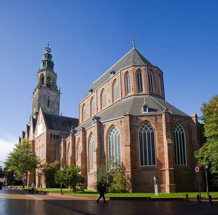 De Martinikerk en de Martinitoren, Groningen.