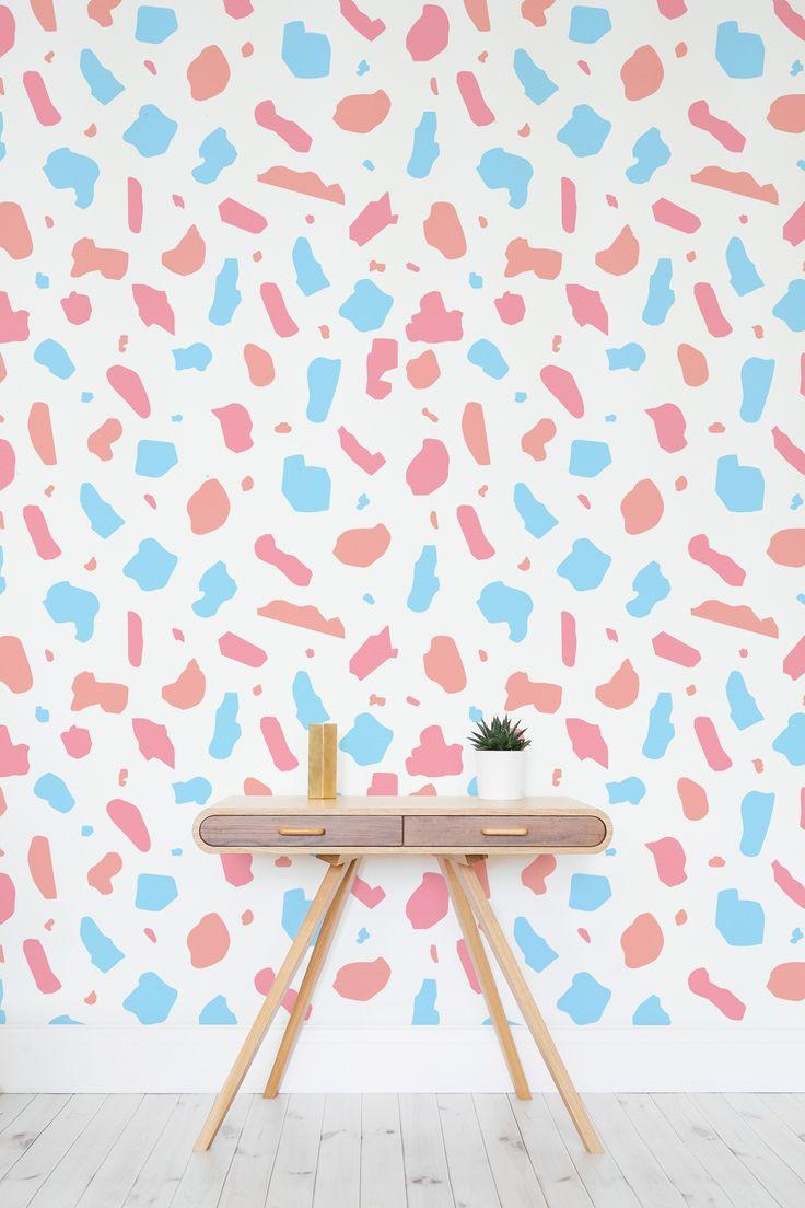 162 best texture wallpaper murals images on pinterest wallpaper pastel terrazzo wallpaper mural