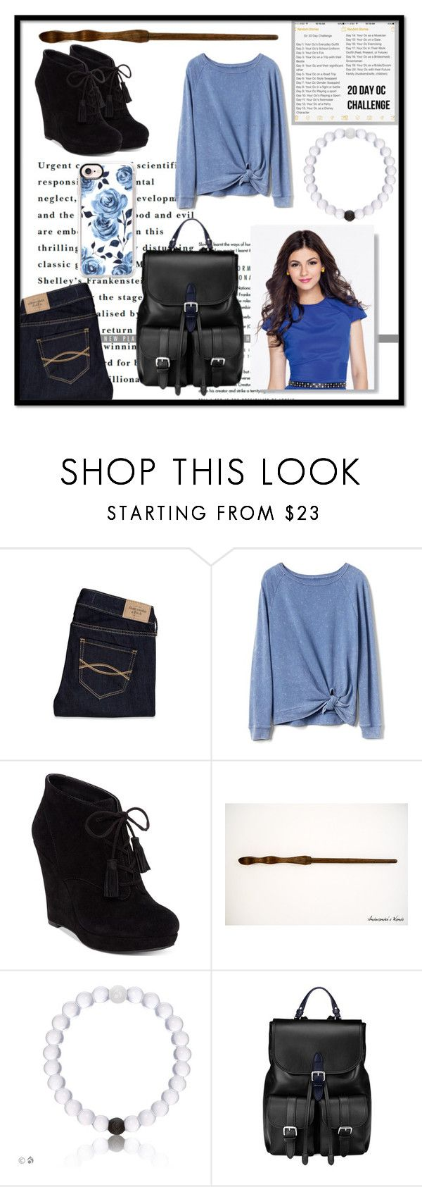 """""""Day One: Ana's Everyday Outfit"""" by felicityjones0309 ❤ liked on Polyvore featuring Abercrombie & Fitch, Gap, Jessica Simpson, Aspinal of London, Casetify, harrypotter and ravenclaw"""
