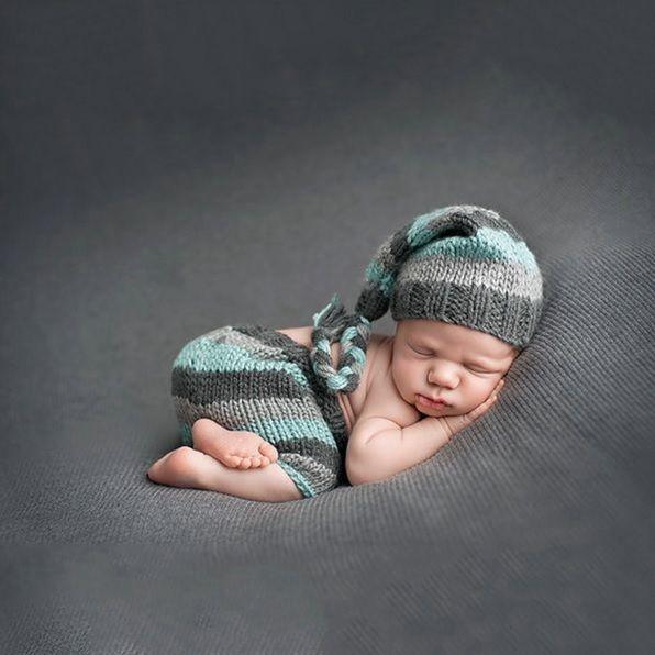 Baby Strickmütze Neugeborenen Fotoshooting Newborn Fotografie Kinderfoto Max