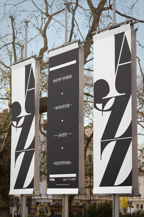 New Your Winter Jazz Festival - Posters & Promotion by Luke Syrylo, via Behance