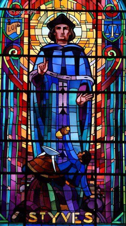 St Yves, église de Pontrieux, vitrail de Job Guével.