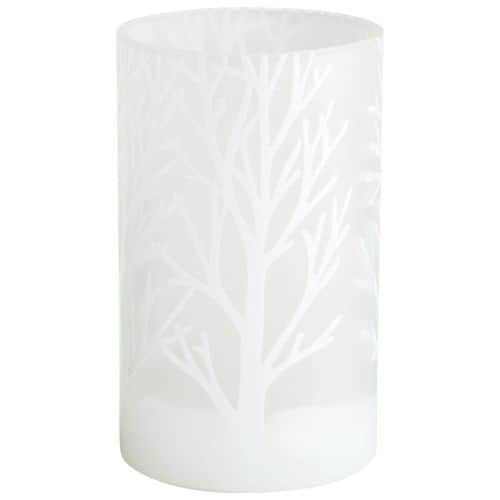 Cyan Design Small Frosted Bark Vase Frosted Bark 8 Inch Tall Glass Vase, White