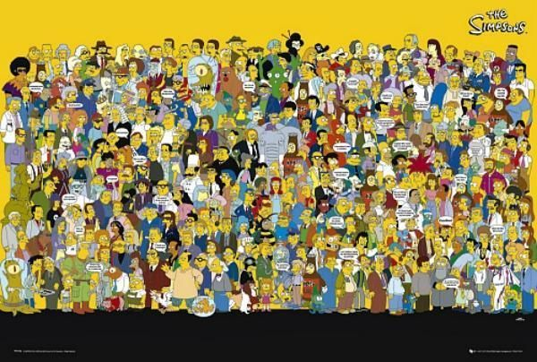 The Simpsons : Cast Quotes - Maxi Poster 61cm x 91.5cm (new & sealed)