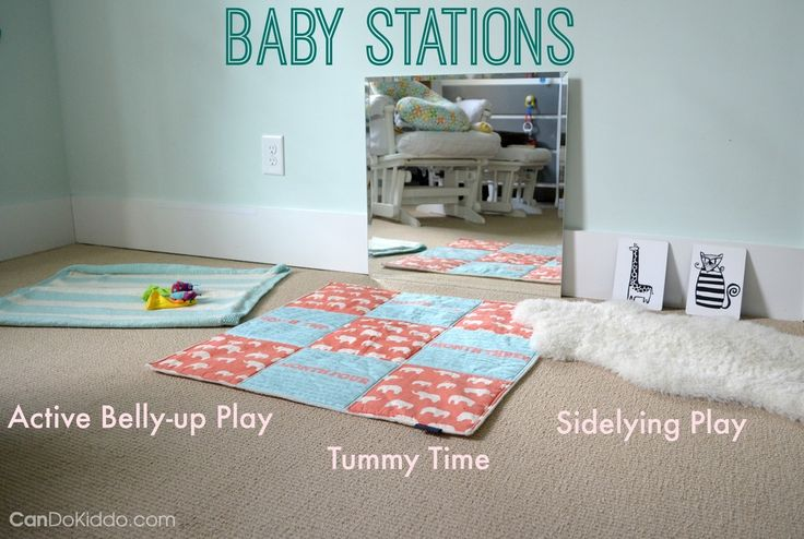 Age 4-6 months, play: Baby Stations - baby activities for fun and healthy development. CanDo Kiddo