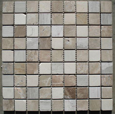 Hervorragend Marmor Mosaik Fliese Grau Braun Beige 30x30x0,8cm; 3x3cm Naturstein Bad  Dusche | Zimmer | Pinterest