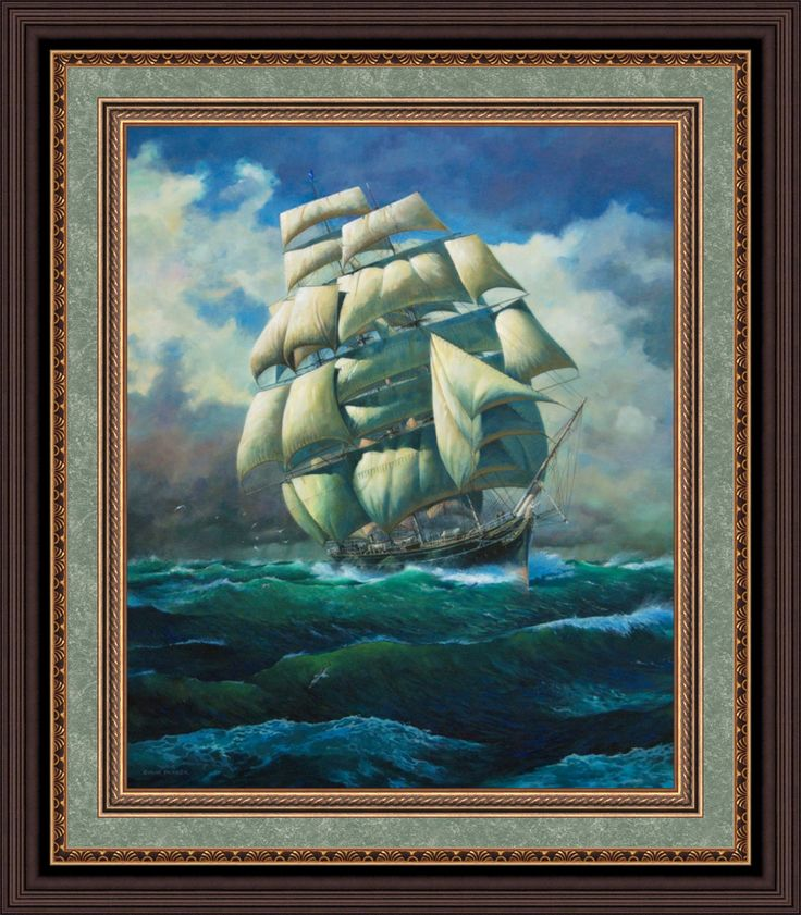 """""""Cutty Sark"""" by Colin Parker original oil available from Lansdborough Galleries"""