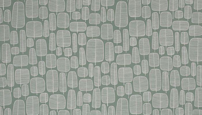 Miss Print - Little Trees English Grey