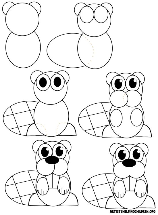 How To Draw Cartoon Beavers Painting Drawing Ideas Pinterest