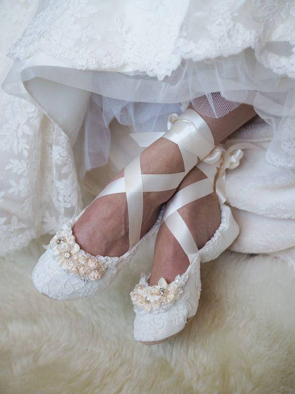 Elegant Bespoke Wedding Ballet Shoes In 2020