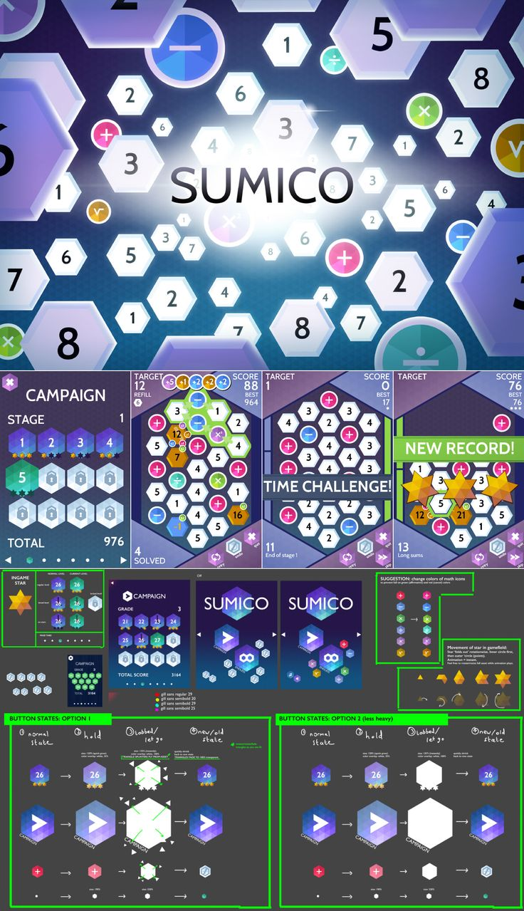Sumico is a mobile numbers game: you swipe tiles to create sums, which is much more addictive than you'd initially guess!  http://www.grinwise.com/portfolios/sumico/