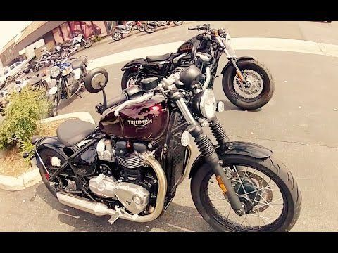 (adsbygoogle = window.adsbygoogle    []).push();  I took a demo on the 2017 Triumph Bobber 1200 as well as a ride on a Harley Davidson 48 1200 for comparison. source buy motorcycles in Canada – Triumph Bobber vs Harley 48 1200 #Buy #Motorcycles in #Canada