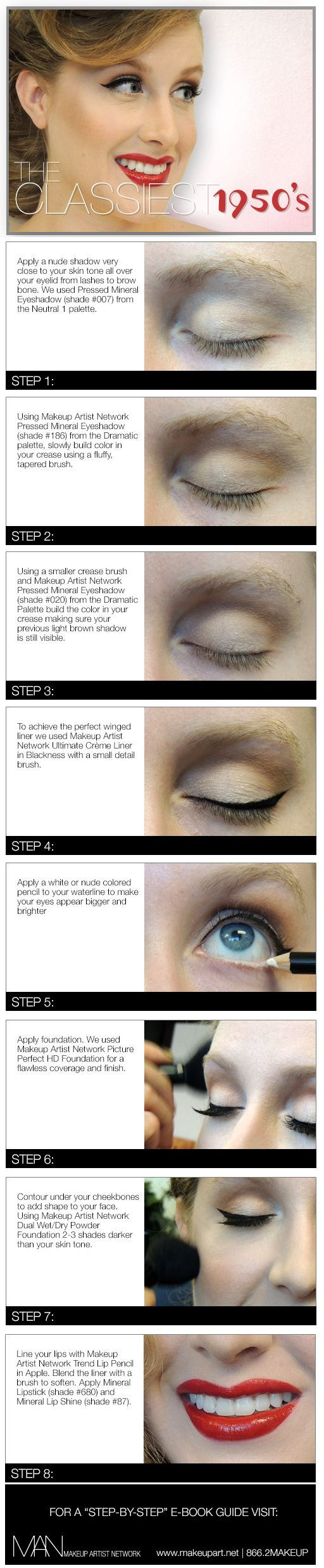 The Classiest 1950's Makeup