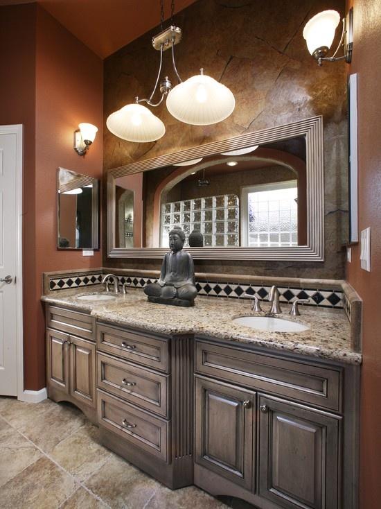 Mediterranean Bathroom Mirror Design, Pictures, Remodel, Decor And Ideas    Page 12