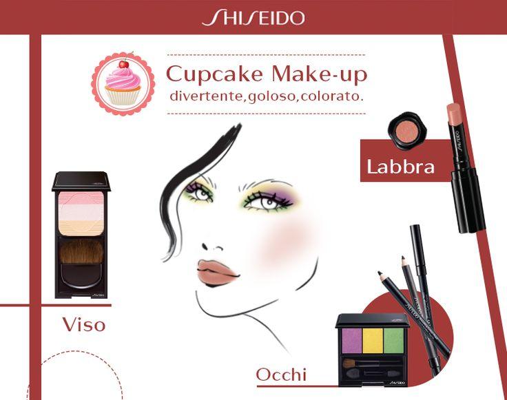 Sfumature di nero sugli #occhi, rosa pallido sugli zigomi e un goloso color caramello sulle #labbra: con il Cupcake #makeup la tua serata è a tutta dolcezza! #Shiseido www.shiseido.it