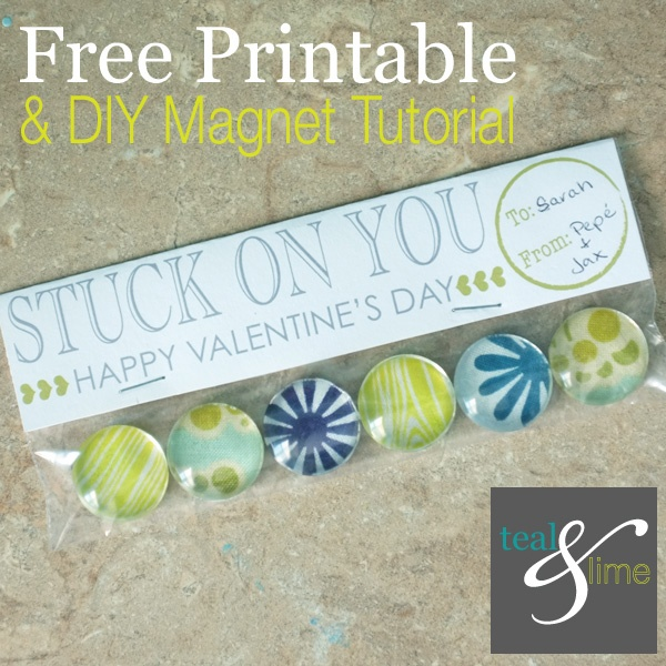 Stuck On You Valentine {Free Printable}