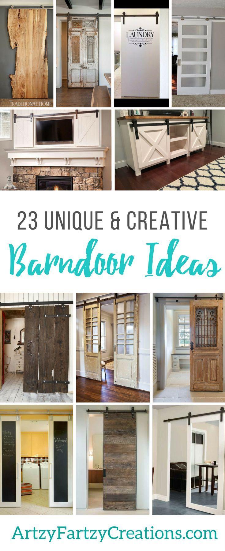 23 Barndoor Ideas for your Home - Farmhouse Doors - Bypass Barndoor  Furniture - Pantry -