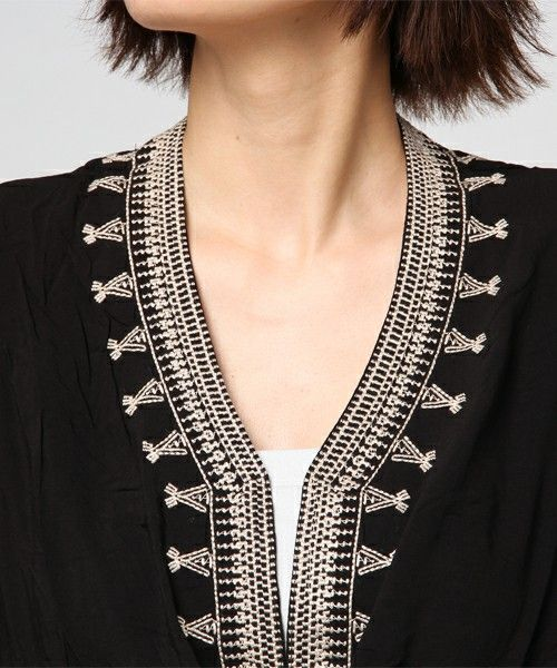 anap mimpi(アナップミンピ)の「刺繍デザインカシュクールワンピース(チュニック)」 詳細画像