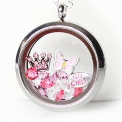 Pretty Pink - Themed Lockets  show your style, loves and interests in a beautiful locket.