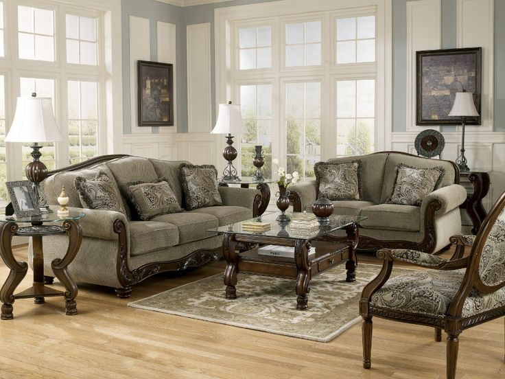 Martinsburg Meadow Sofa Loveseat Livingroom Rana Ranafurniture