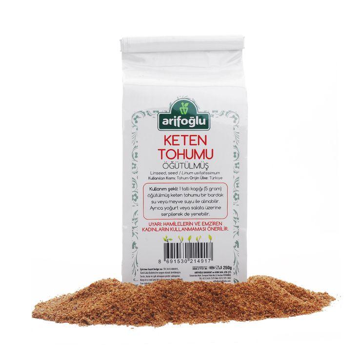 Keten Tohumu Öğütülmüş - Arifoğlu - Şifalı Bitkiler - Organik - Oraganic - Spices - Bitkisel Yağlar - Bitki Çayı - Honey - Bal - Türk Mutfağı