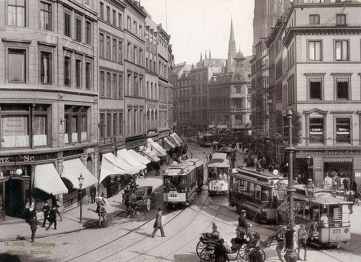 Grosser Burstah in Hamburg | von Stockholm Transport Museum Commons