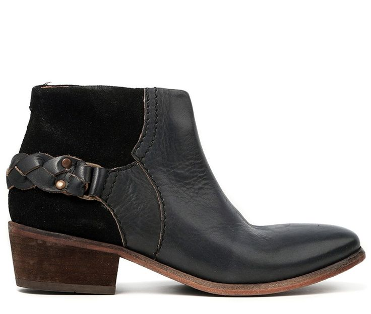 Triad takes traditional H London aesthetic values and applies them to our of our newest shapes. Using a mix of leather and suede this boot is a great choice for the transitional season. A plaited leather strap runs around the heel for a touch of detail. Finished on a leather sole, this boot is built with quality in mind.