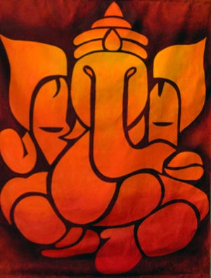 ganesh painting, via Flickr.