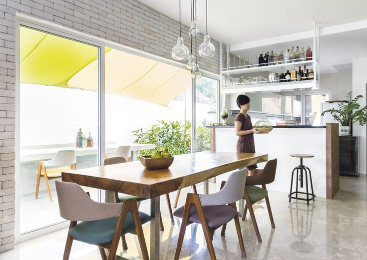Texture And Colour Add Retro Character To This Terrace House By Distinct Identity