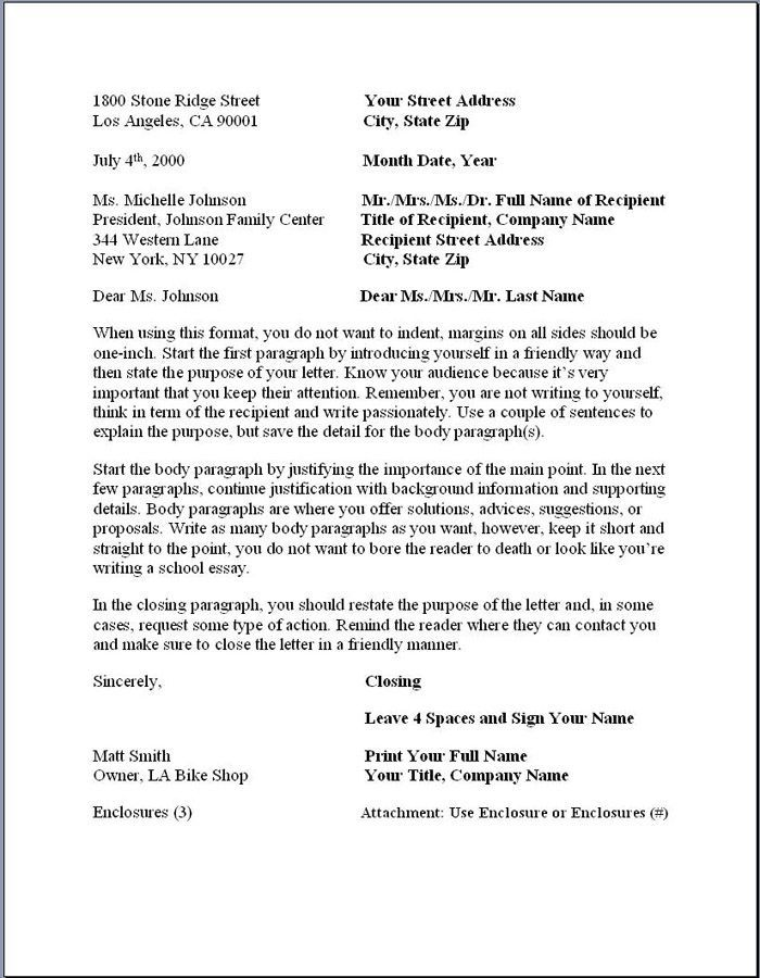 ideas about business letter format on pinterest business printable sample proper business letter format form