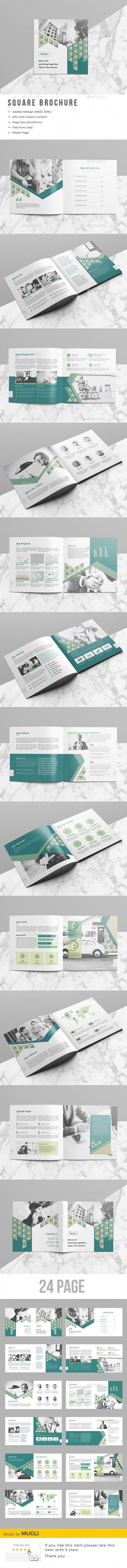 Company Square Brochure — InDesign INDD #red #annual report • Download ➝ https://graphicriver.net/item/company-square-brochure/19595419?ref=pxcr