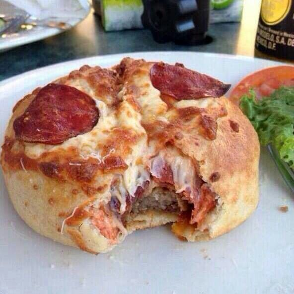 Pizza burger.. ultimate cheat meal