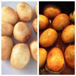 """Voor in het Roti gerecht is het traditioneel om een gekookt ei erin te doen. Echter de eieren in masala kunnen ook gegeten worden op een pistoletje. Het broodje """"kerrie ei"""" die bij de toko's verkocht wordt. Benodigdheden: - 10 eieren - 4 eetlepels olie - 1 volle theelepel masala - 1 theelepeltje tomatenpuree -…"""